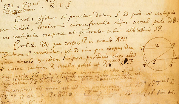 Handwritten notes in the Principia Mathematica