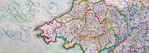 17th Century map of Wales.