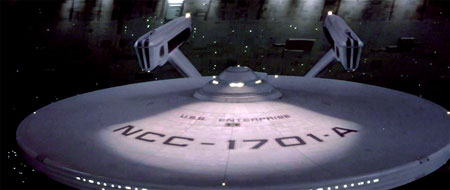 The usual, gratuitious USS Enterprise porn shot. There's one in every Original Series film.