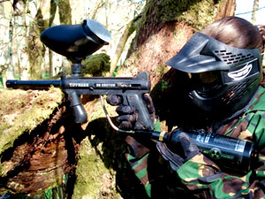 Paintball player.